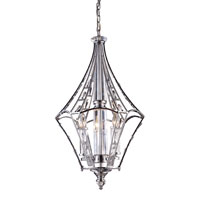 ZULLAIX 3 Light 16 inch Polished Chrome Chandelier Ceiling Light
