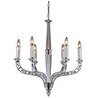ELK Lighting Zullaix 6 Light Chandelier in Polished Chrome 11245/6