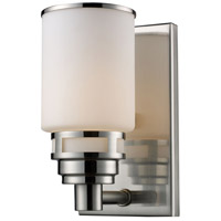 Bryant 1 Light 5 inch Satin Nickel Vanity Wall Light in Standard