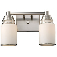 Bryant 2 Light 14 inch Satin Nickel Vanity Wall Light in Standard