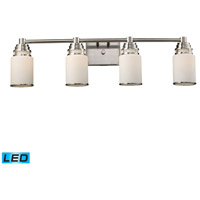ELK Lighting Bryant 4 Light Bath Bar in Satin Nickel 11267/4-LED