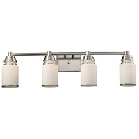 Bryant 4 Light 32 inch Satin Nickel Vanity Wall Light in Standard