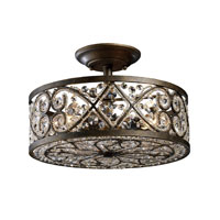 ELK Lighting Amherst 4 Light Semi-Flush Mount in Antique Bronze 11286/4