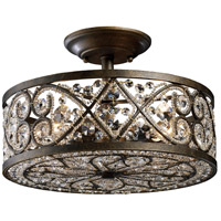 Amherst 4 Light 13 inch Antique Bronze Semi Flush Mount Ceiling Light