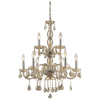 ELK Lighting Angelique 9 Light Chandelier in Amber Teak 11303/6+3