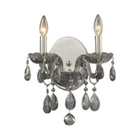 ELK Lighting Angelique 2 Light Sconce in Silver Smoke 11310/2