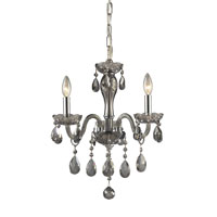 ELK Lighting Angelique 3 Light Chandelier in Silver Smoke 11311/3