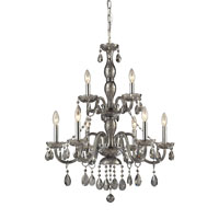 Angelique 9 Light 26 inch Silver Smoke Chandelier Ceiling Light