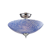 ELK Lighting Night Glow 3 Light Semi-Flush Mount in Polished Chrome 11315/3S-G photo thumbnail