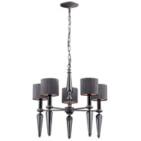 Beaumont 5 Light 20 inch Graphite Chandelier Ceiling Light