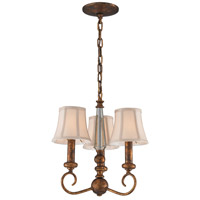 Crestview 3 Light 12 inch Spanish Bronze Chandelier Ceiling Light