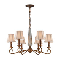 Crestview 6 Light 26 inch Spanish Bronze Chandelier Ceiling Light