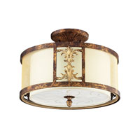 ELK Lighting Frederick 2 Light Semi-Flush Mount in Spanish Bronze 11341/2