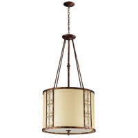 Frederick 8 Light 23 inch Spanish Bronze Pendant Ceiling Light