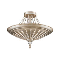 Renee 9 Light 25 inch Aged Silver Semi-Flush Mount Ceiling Light