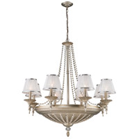 ELK Lighting Renee 14 Light Chandelier in Aged Silver 11361/8+6