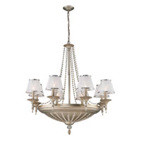 ELK 11361/8+6 Renee 14 Light 37 inch Aged Silver Chandelier Ceiling Light