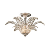 La Flor 1 Light 19 inch Sunset Silver Semi-Flush Mount Ceiling Light