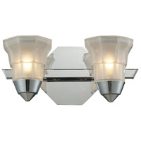 ELK 11391/2 Deco 2 Light 12 inch Polished Chrome Bath Bar Wall Light