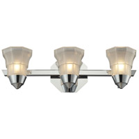 ELK 11392/3 Deco 3 Light 18 inch Polished Chrome Bath Bar Wall Light