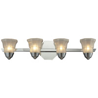 Deco 4 Light 25 inch Polished Chrome Bath Bar Wall Light
