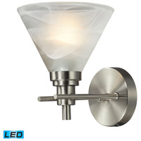 Pemberton LED 7 inch Brushed Nickel Bath Bar Wall Light in 1