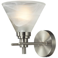 Pemberton 1 Light 7 inch Brushed Nickel Bath Bar Wall Light in Standard