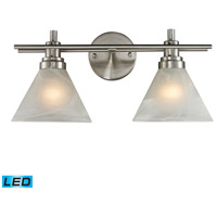ELK Lighting Pemberton 2 Light Bath Bar in Brushed Nickel 11401/2-LED