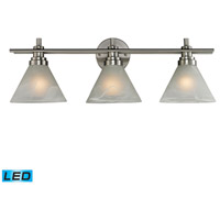ELK Lighting Pemberton 3 Light Bath Bar in Brushed Nickel 11402/3-LED