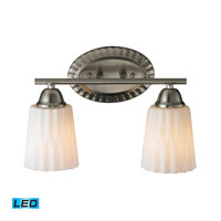 ELK Lighting Waverly 2 Light Bath Bar in Brushed Nickel 11406/2-LED