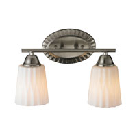 ELK 11406/2 Waverly 2 Light 14 inch Brushed Nickel Bath Bar Wall Light