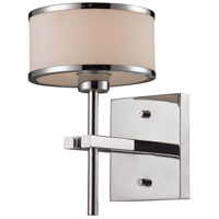 ELK 11415/1 Utica 1 Light 8 inch Polished Chrome Vanity Light Wall Light