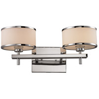 ELK Lighting Utica 2 Light Bath Bar in Polished Chrome 11416/2