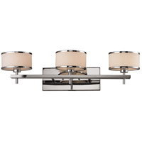 ELK 11417/3 Utica 3 Light 29 inch Polished Chrome Vanity Light Wall Light