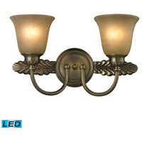 ELK Lighting Ventura 2 Light Bath Bar in Antique Brass 11424/2-LED