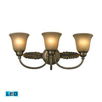 ELK Lighting Ventura 3 Light Bath Bar in Antique Brass 11425/3-LED