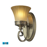 Claremont LED 6 inch Colonial Bronze Bath Bar Wall Light