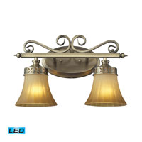 ELK Lighting Claremont 2 Light LED Bathbar in Colonial Bronze 11427/2-LED