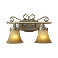 ELK 11427/2 Claremont 2 Light 16 inch Colonial Bronze Bath Bar Wall Light