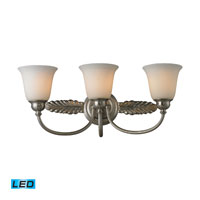 ELK Lighting Ventura 3 Light Bath Bar in Brushed Nickel 11435/3-LED
