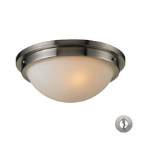 Signature 2 Light 13 inch Brushed Nickel Flush Mount Ceiling Light in Recessed Adapter Kit