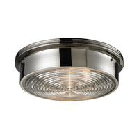 ELK Lighting Signature 3 Light Flush Mount in Polished Nickel 11443/3