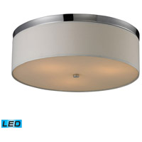 ELK Lighting Signature 3 Light Flush Mount in Polished Chrome 11445/3-LED
