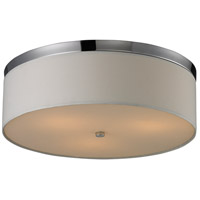 Signature 3 Light 17 inch Polished Chrome Flush Mount Ceiling Light in Standard