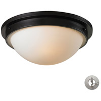 Signature 2 Light 13 inch Oiled Bronze Flush Mount Ceiling Light in Recessed Adapter Kit