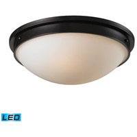 Signature LED 16 inch Oiled Bronze Flush Mount Ceiling Light