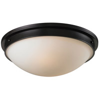 Signature 2 Light 16 inch Oiled Bronze Flush Mount Ceiling Light in Standard