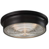 Signature 3 Light 15 inch Oiled Bronze Flush Mount Ceiling Light