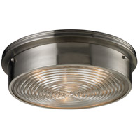 ELK Lighting Signature 3 Light Flush Mount in Brushed Nickel 11463/3