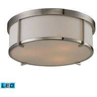 ELK Lighting Signature 3 Light Flush Mount in Brushed Nickel 11465/3-LED